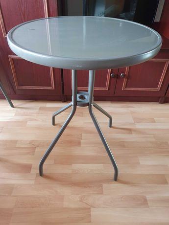 Stolik kawowy i 2 krzesełka aluminiowe na balkon jak nowe