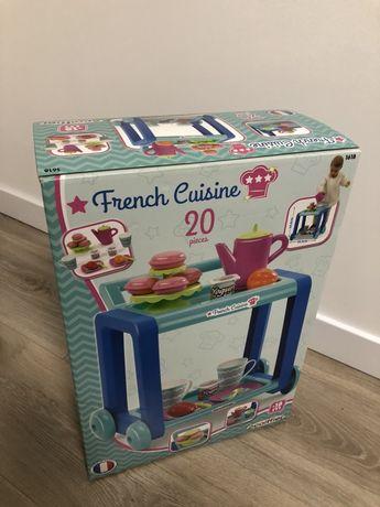 Пересувний столик French Cuisine з набором посуду і продуктами Ecoiffi