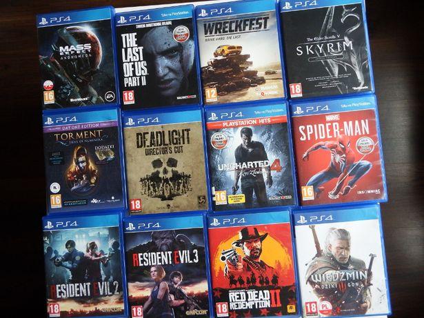 PS4 Playstation 4 PS5 GRY rożne tytuły ZAMIANA