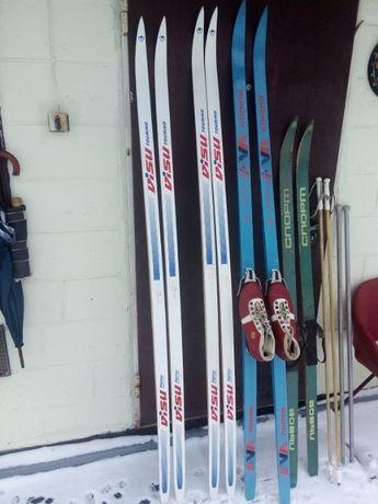лыжи палки крепление