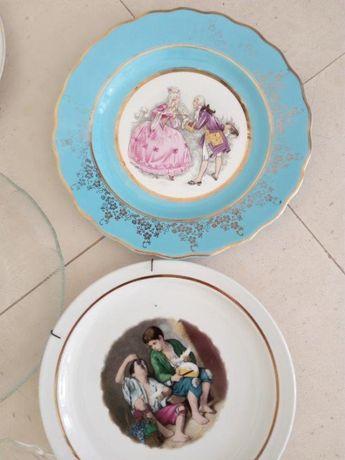 Pratos, copos, chávenas, canecas, objectos decorativos