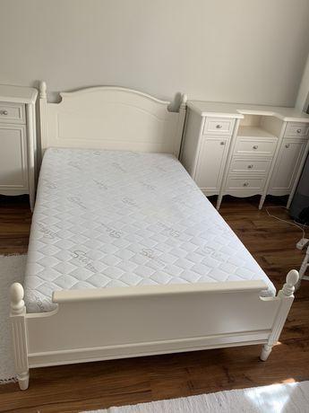 Zestaw mebli Fiorentino łóźko komody materac  - białe - jak nowe