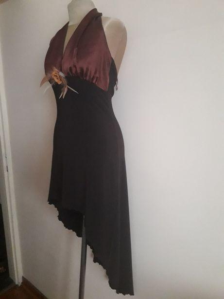 Sukienka wieczorowa brązowa likwidacja sklepu