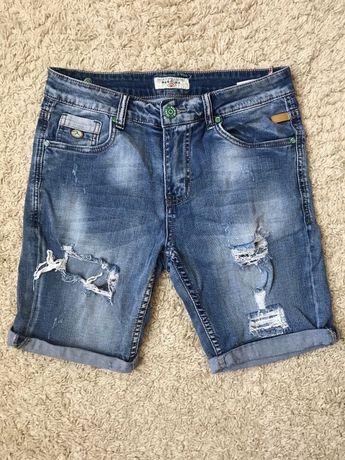 Джинсовые шорты рваные мужские