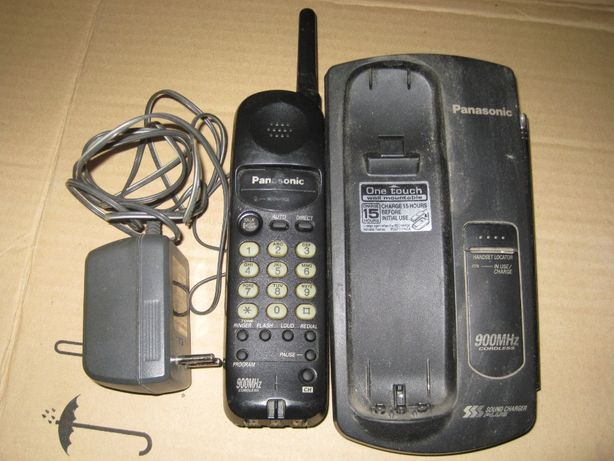 Телефон радиотелефон Панасоник Panasonic с блоком питания 9в