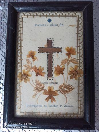 Obrazek z kwiatkami z Ziemi Św.