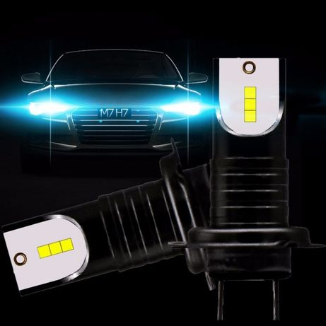 2 Lampadas LED para Farois H7 13000 lúmens 55 watts para Automóvel