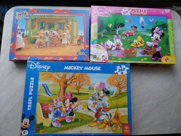 Puzzle Minnie, Mickey Mouse i Bracia Koala