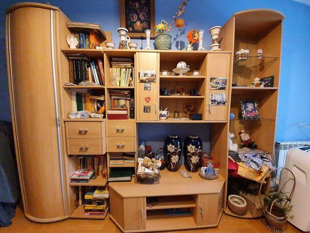 Meblościanka, biurko, szafa