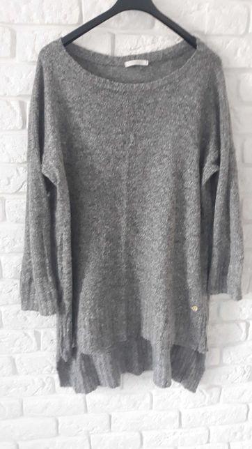Sweter szary asymetryczny ciążowy cieplutki
