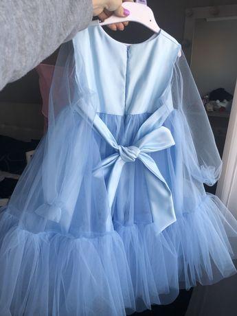 Платье зефирка фатин небесное голубое платтячко плаття