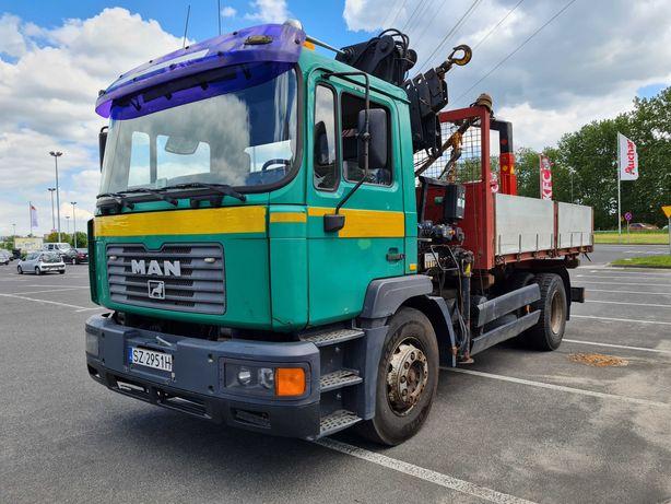 Samochód ciężarowy MAN 18.264, HDS, Wywrotka, kiper na 3 strony