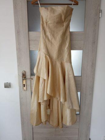Sukienka na bal, hiszpanka, długa, falbany, 36/38, gorset, zamek