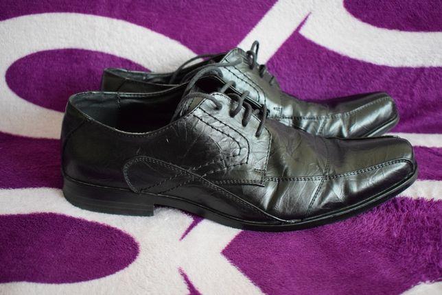 Buty wizytowe czarne, używane, rozm. 45