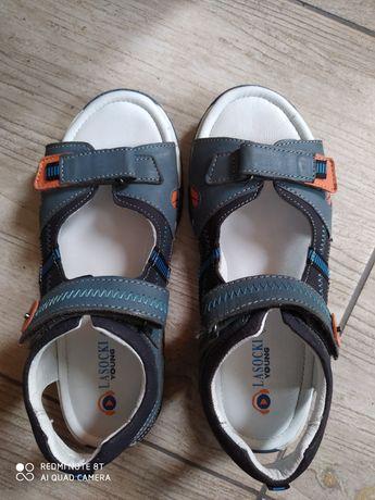 Sandały skórzane rozmiar 36