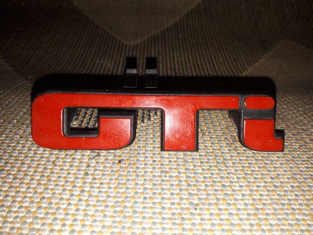 Emblemat Znaczek GTI na gril Seat VW