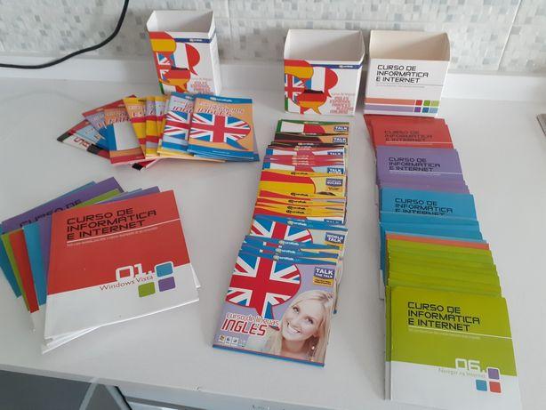 Livros/cds : curso informática e linguas