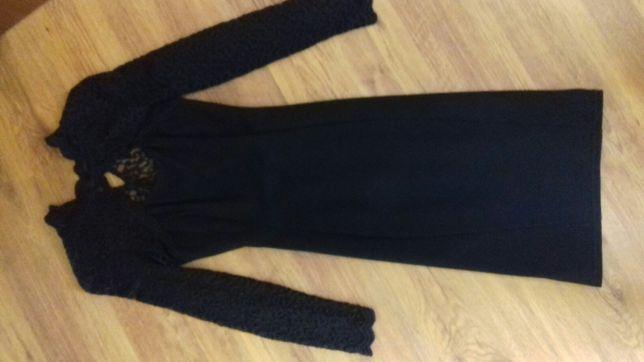 sukienka mini mała czarna r.36