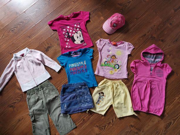 PAKA ubrań dla dziewczynki rozmiar 104 koszulki sweter czapka Dora