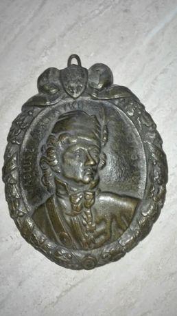 Antyk,brąz,patriotyk,medalion Tadeusz Kościuszko