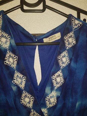 Długa sukienka Papaya weekend rozmiar S . Boho. Niebieska.
