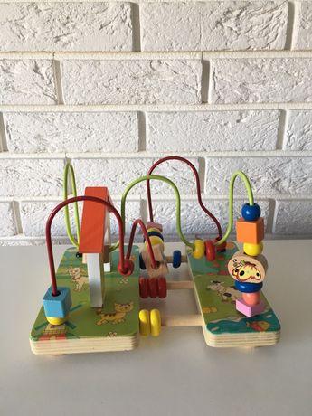 Drewniana zabawka edukacyjna, przekładanka dla dzieci niemowląt