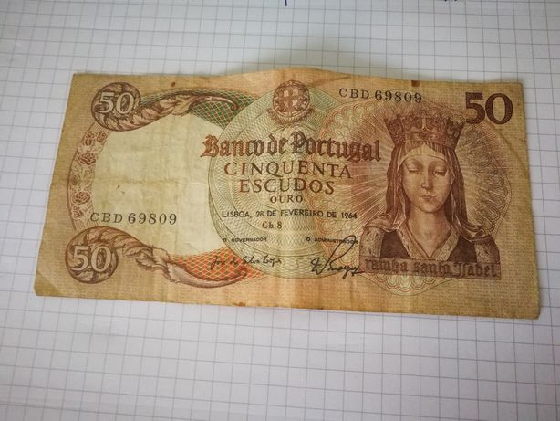 Nota 50 escudos 1964