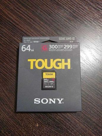 Карта памяти Sony Tough SDXC 64GB C10 UHS-II U3 V90 (SF64TG)