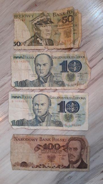 Banknoty PRL - 4 szt