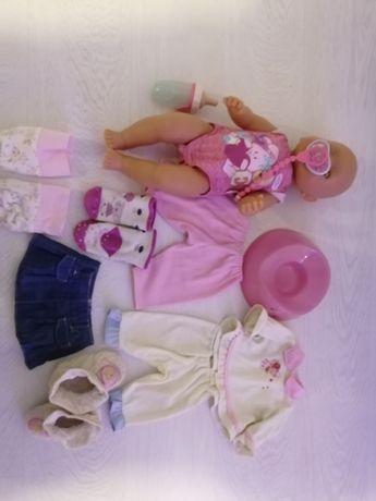 Lalka Baby Born z nosidełkiem fotelitkiem i inne akcesoria