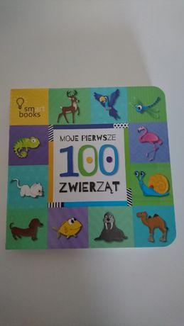 """Książeczka """"Moje pierwsze 100 zwierząt """" 0+"""