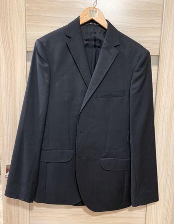 Czarny garnitur Vistula - spodnie + marynarka 50L