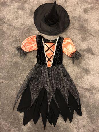 Kostium sukienka czarownicy 122-128 stan idealny