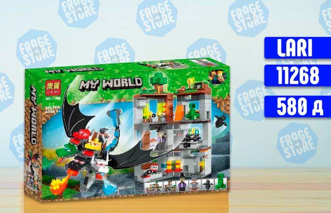 """Конструктор Bela Minecraft 11268 """"Пятиглавый дракон"""", 580 д, лего."""