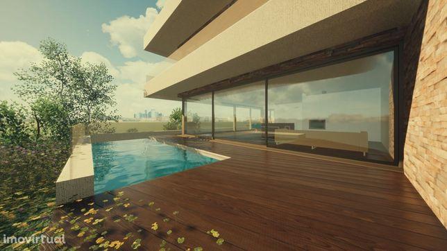 Moradia de luxo c/piscina vista sobre Douro-Gaia