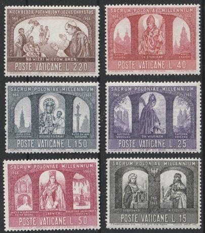 znaczki Watykan - 1966 - Chrzest Polski - czyste **