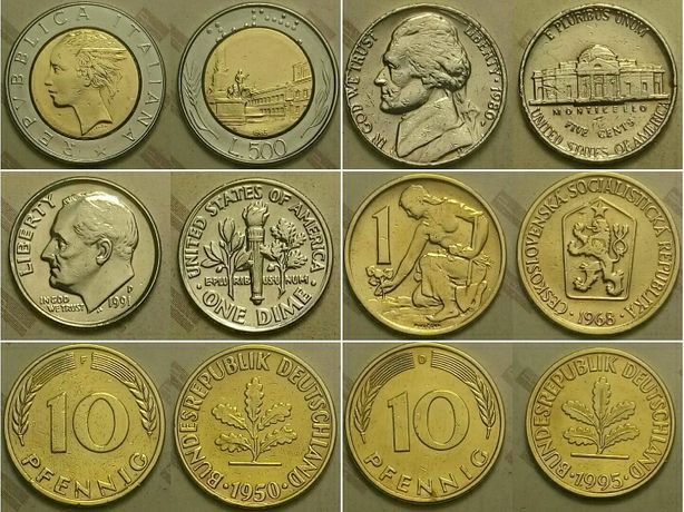 Обиходные монеты продажа цена за весь список.