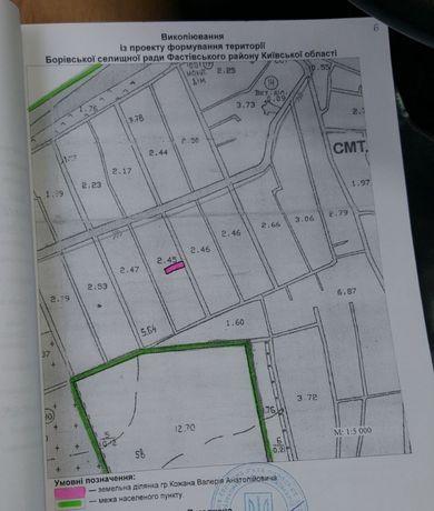 Продам земельну ділянку, смт Борова 7 сотих