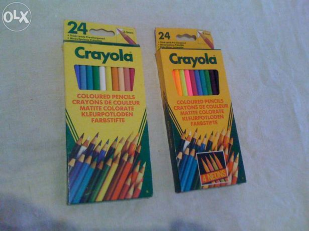 Crayola-2 caixas de lápis de cores-24 Lápis cada=48