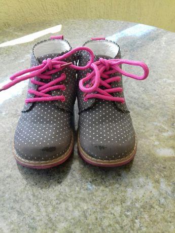 Trzewiczki buty sznurowane na wiosnę