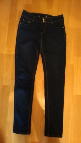 Spodnie damskie jeans ze streczem, rozm. 28,pas 70, biodra 90 cm.
