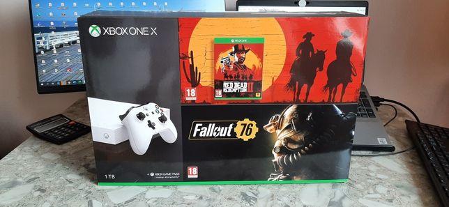 Xbox One X Limited 1Tb BIAŁY 2x pad, gry IDEAŁ