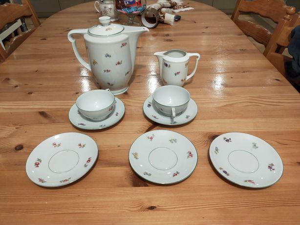 Stary serwis kawowy porcelana Ćmielów
