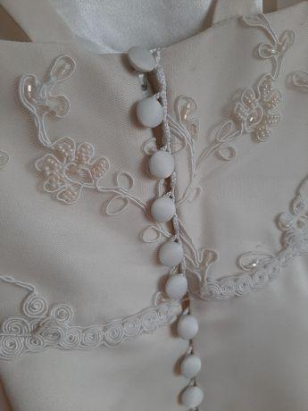 Suknia ślubna. Ecru. M  na wysoką Panią