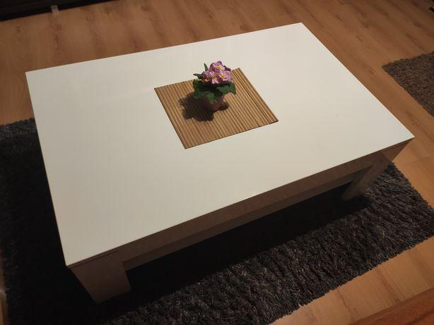 Ława biała stolik stół kawowy połysk