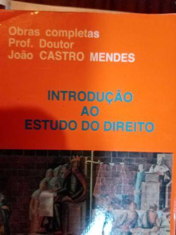 Introdução ao estudo do Direito - Castro Mendes