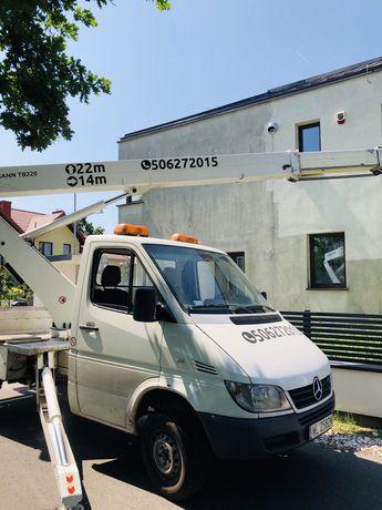 Podnosnik Koszowy 22metry ruthmann Podnosniki Warszawa montaż reklam