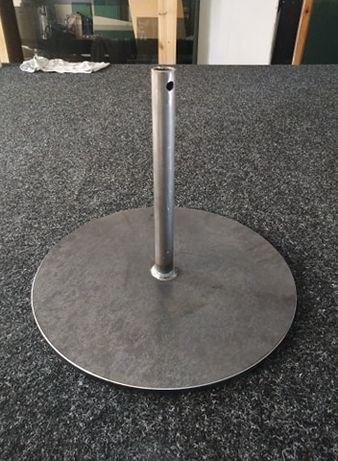 Podpory na słupek fi 25mm - przegrody szklane,pleksi, parasole ogrodow