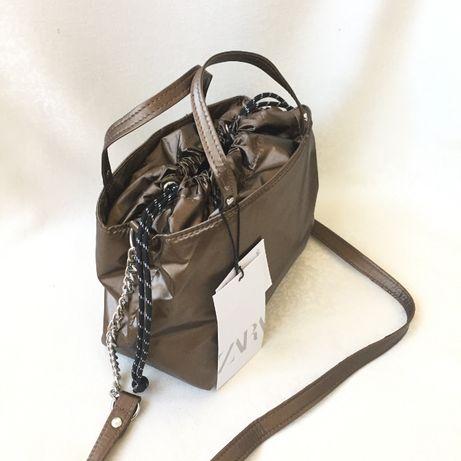 ZARA сумочка Новая, стильная золотистого цвета/ охра женская