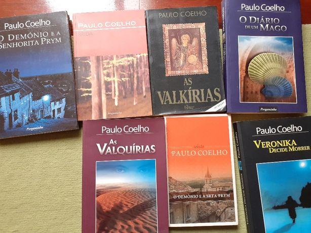 Sete livros Paulo Coelho como novos